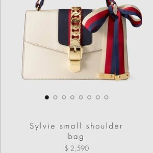 Gucci Sylvie Bow Leather Shoulder Bag - Small